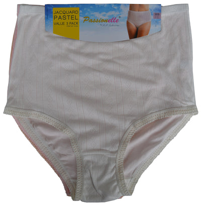 Womens soft cotton briefs white