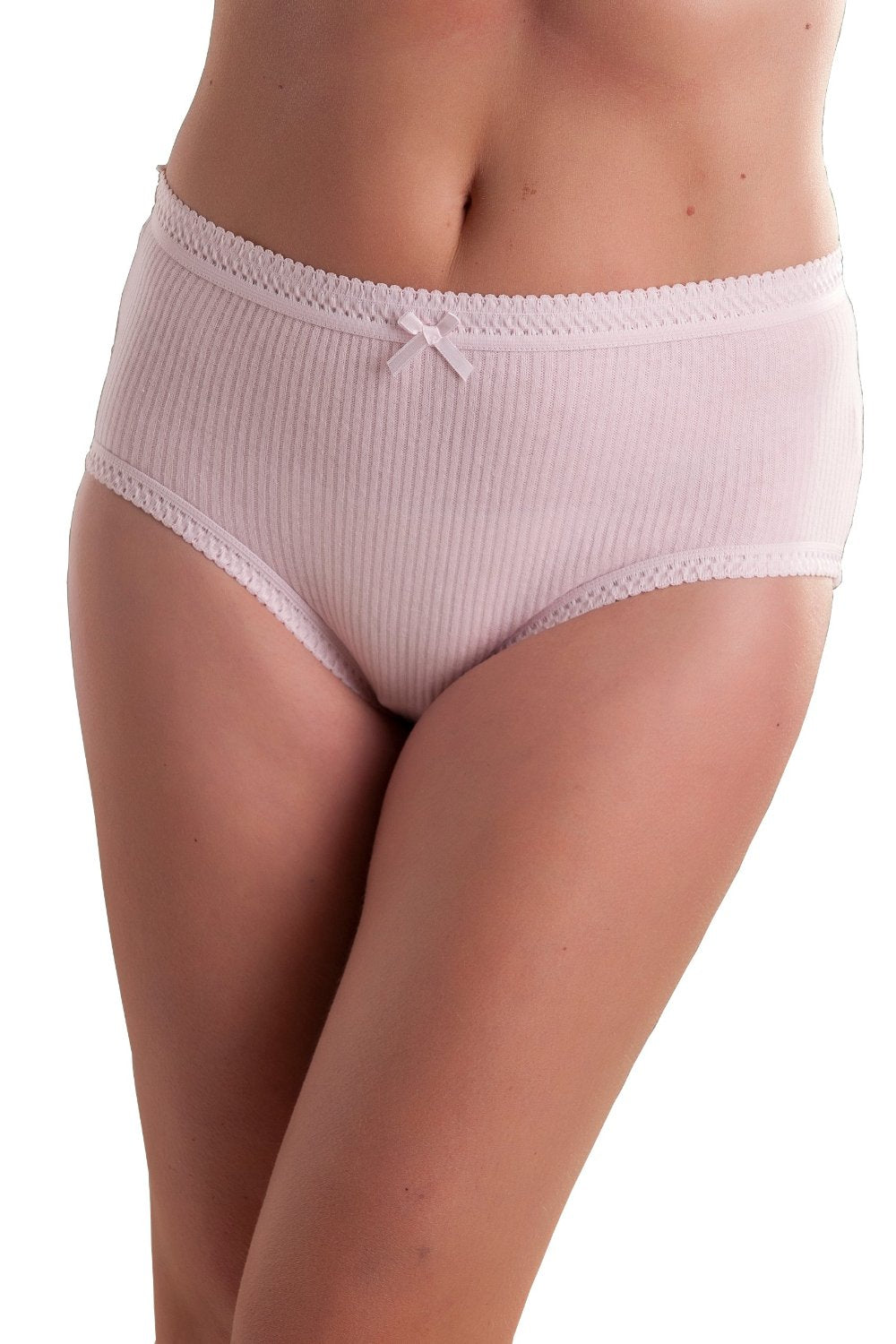 Womens Ribbed Pastel Colour Brief