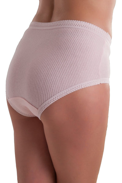 Passionelle Womens Ribbed Pastel Brief