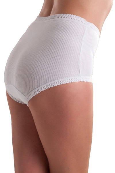 Womens ribbed cotton briefs