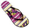 OCTAVE Ladies Summer Beach Wear Flip Flops Wave Design - Black