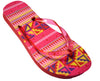 OCTAVE Ladies Summer Beach Wear Flip Flops Wave Design - Orange