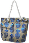 Summer beach tote handbag pineapple print