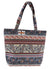 OCTAVE Ladies Summer Beach Tote Handbag - Aztec Tapestry Design - Multicoloured