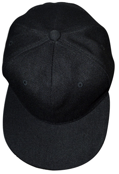 OCTAVE Unisex Baseball Cap Hat - Plastic Snap Strap Closure - Black