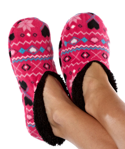 OCTAVE Ladies Pink Micro Fleece Slippers