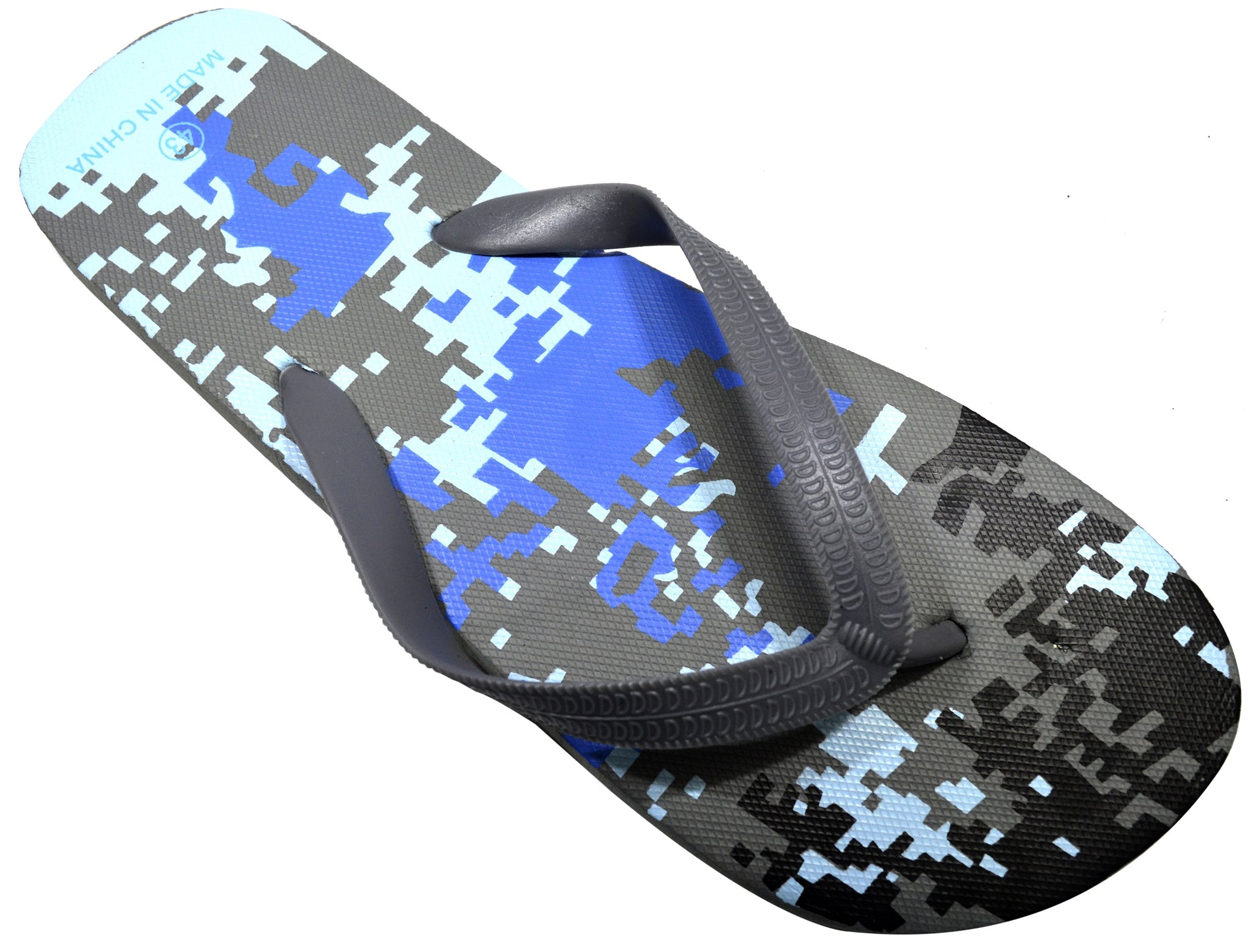 OCTAVE Mens Gray Camoflague Design Flip Flops
