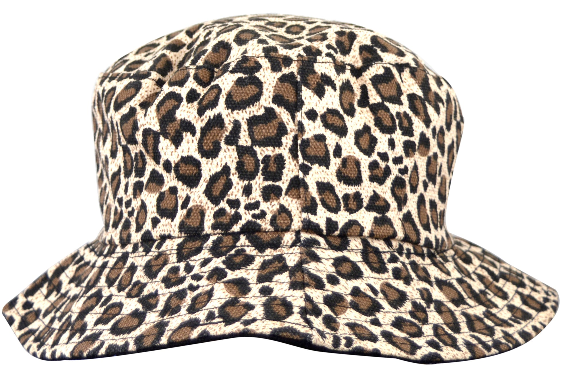 OCTAVE Reversible Bucket Hat - Leopard Print / Black