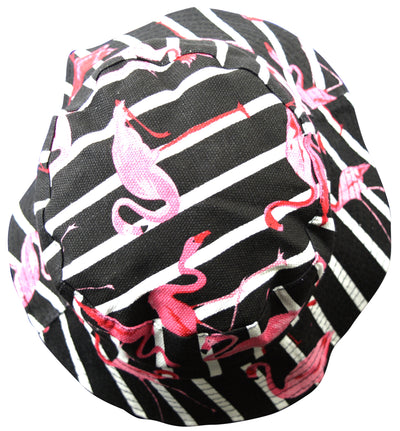OCTAVE Reversible Bucket Hat - Black Flamingo Print / Black