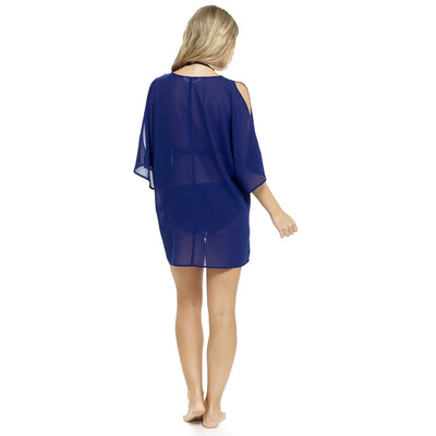 Navy Bikini Swimsuit Beach Cover Up Back