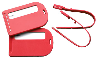 Octave Red travel luggage tags