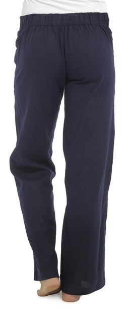 OCTAVE Ladies Linen Trousers -  Navy (Back)