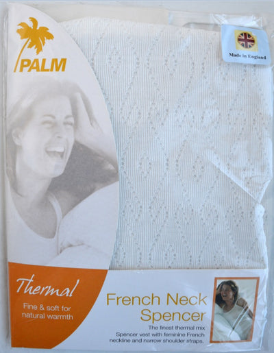 Palm British Made Ladies/Womens Thermal Fancy Knit French Neck Spencer Vest