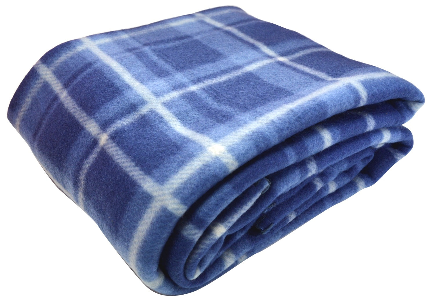 Blue Tartan travel blanket