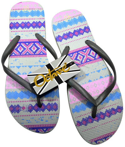 Flip Flop Aztec Design Purple