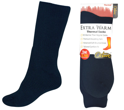 OCTAVE Mens Extra Warm Thermal Socks 2.45 TOG - Navy