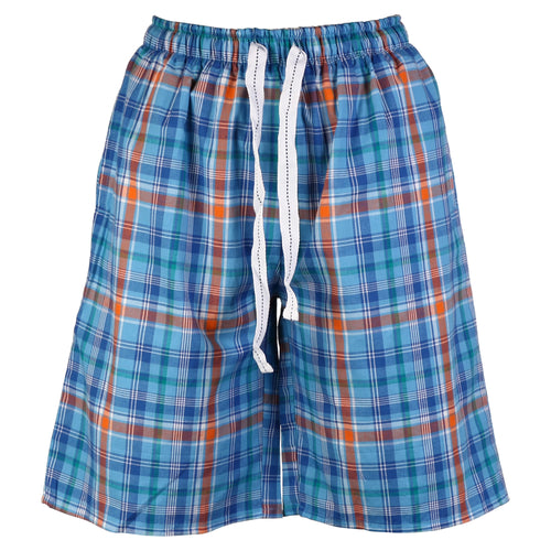 OCTAVE Mens Checked Woven Lounge Shorts With Pockets & Inner Comfort Waistband