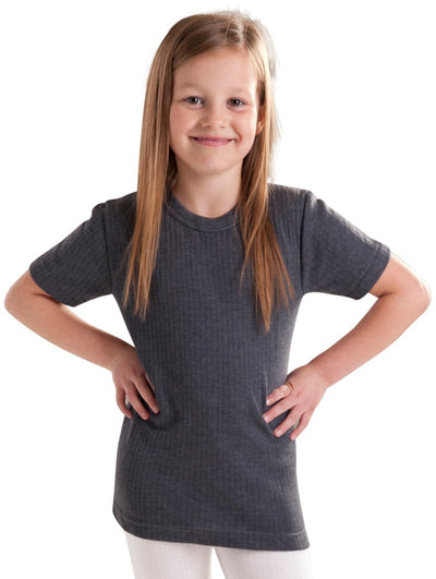Girls Thermal Underwear Thermal T-Shirt grey