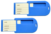 Load image into Gallery viewer, OCTAVE Holiday Essentials Travel Luggage Tags - Blue