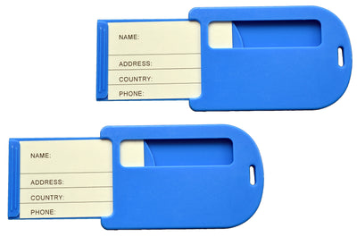 Octave Blue travel luggage tags