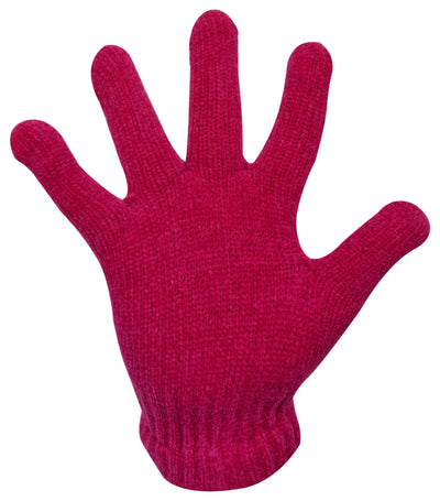 Pink Ladies Chenille Gloves