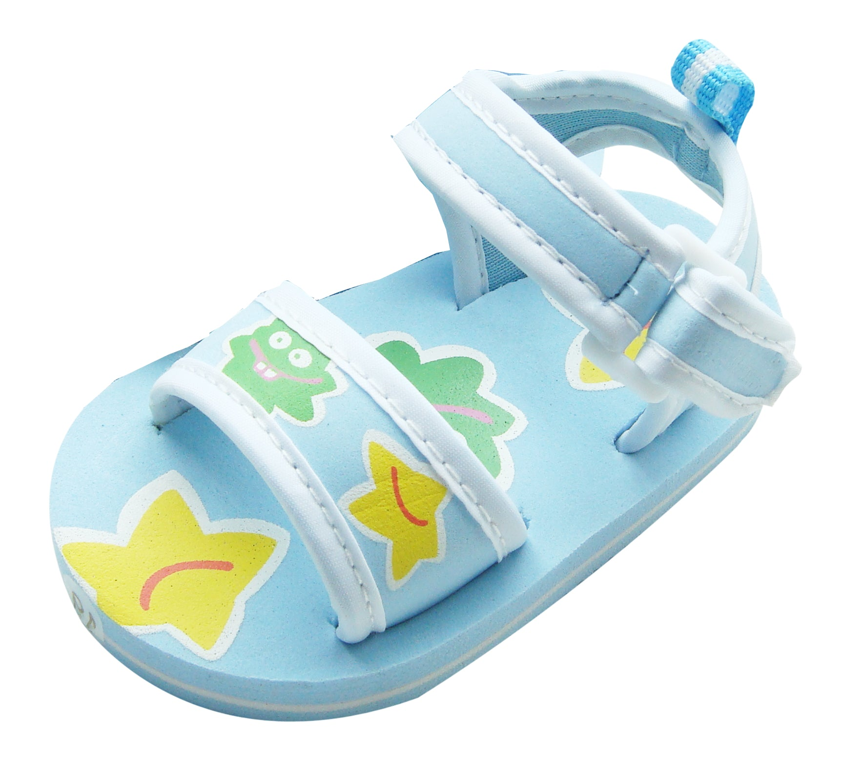 MABINI Bright Smiley Blob Face Summer Baby Eva Sandals