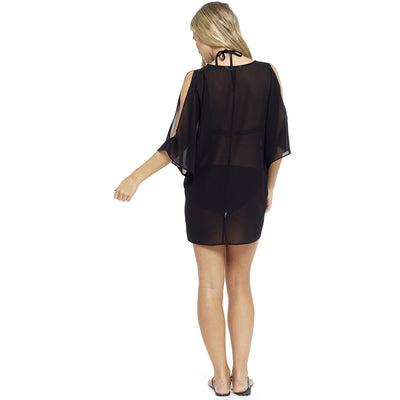 Black Bikini Swimsuit Beach Cover Up Back