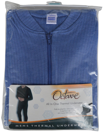 OCTAVE Mens Thermal Underwear All In One Union Suit blue