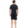 Black With Dark Grey Sleeves & Black Shorts - Back
