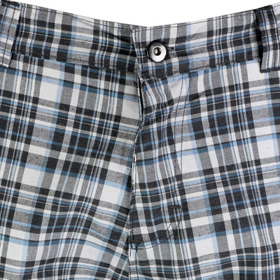 OCTAVE Mens Comfortable Woven Check Shorts - Perfect Summer / Beach Wear