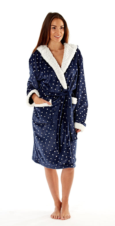 Navy With Star Print