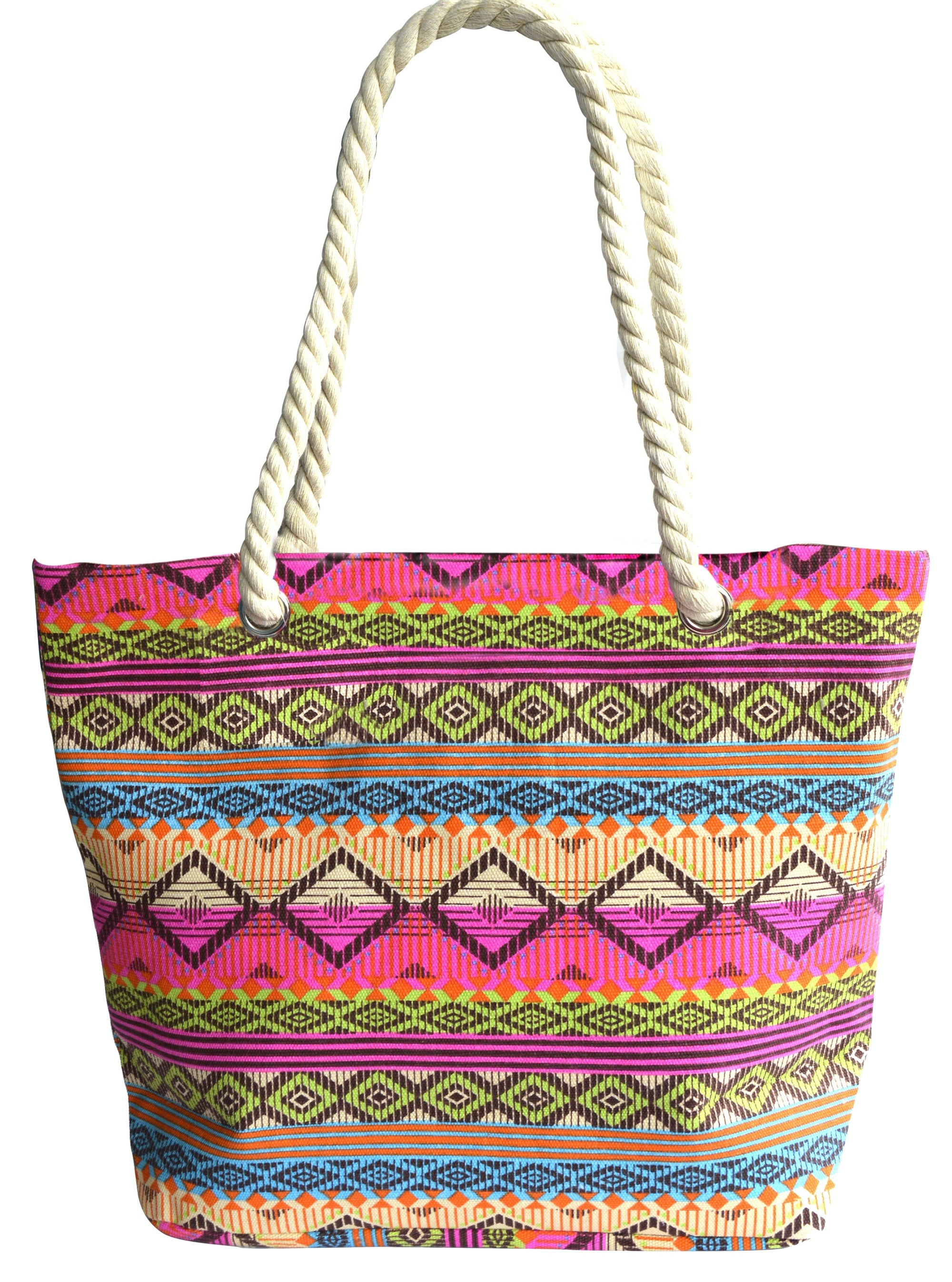 OCTAVE Summer Beach Tote Handbags Collection - Aztec Design