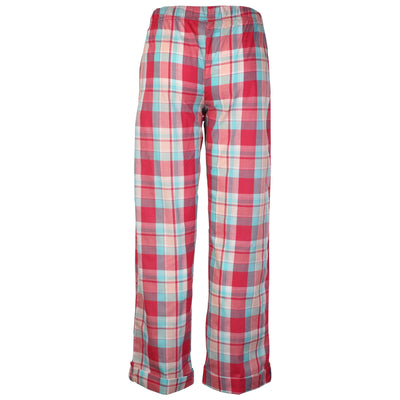 OCTAVE Ladies Summer Woven Pyjama Loungewear Pants / Bottoms With Turn Up Hem