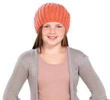 Load image into Gallery viewer, OCTAVE Girls Knitted Beanie Beret Hat With Lurex