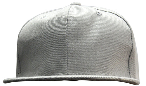 OCTAVE Unisex Baseball Cap Hat - Plastic Snap Strap Closure - Grey