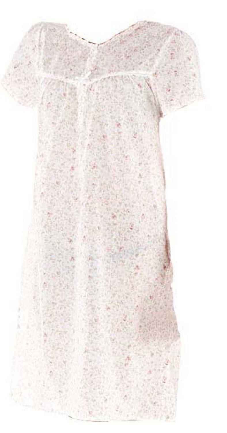 OCTAVE Ladies Poly Cotton Lightweight Short Sleeve Summer Nightdress Nightie