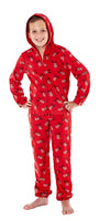 Christmas Warm Hooded Onesie All In One Red