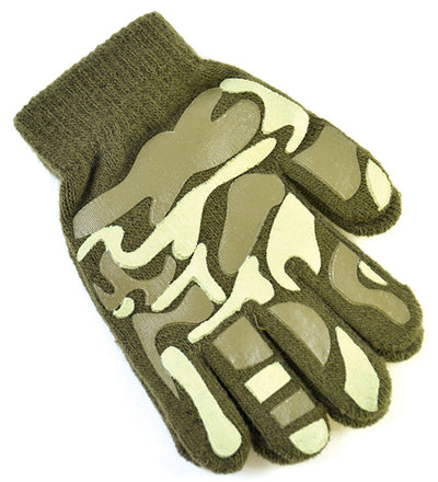 OCTAVE Boys Camoflague Design Magic Gripper Gloves