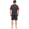 Dark Grey With Dark Red Sleeves & Dark Grey Shorts - Front