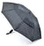 OCTAVE Ladies Wind Resistant Double Canopy Black Folding Umbrella