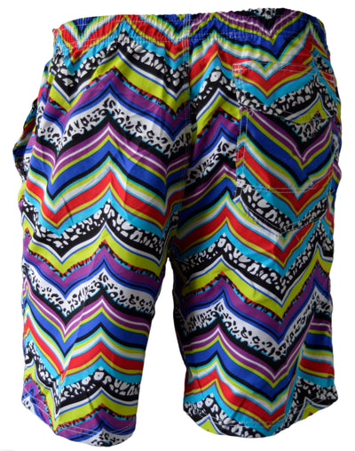 OCTAVE Mens Summer Beach Wear Swim Shorts - Retro Design