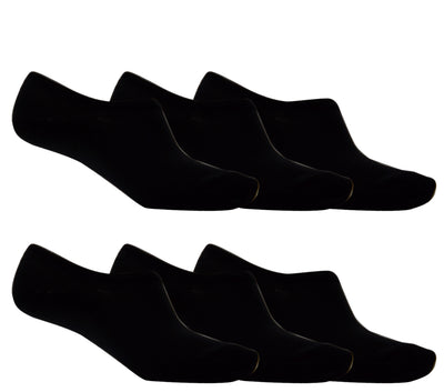 OCTAVE Unisex Plain Invisible Trainer Liner Socks - Various Pack Sizes Available [Size One Size (Approx) UK 4-11 EURO 37-46, Colour Black] - [INTERNAL REF: 42713-01 6 Packs No. 1803 Black Socks]