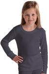 Girls Thermal Underwear Long Sleeve Top grey