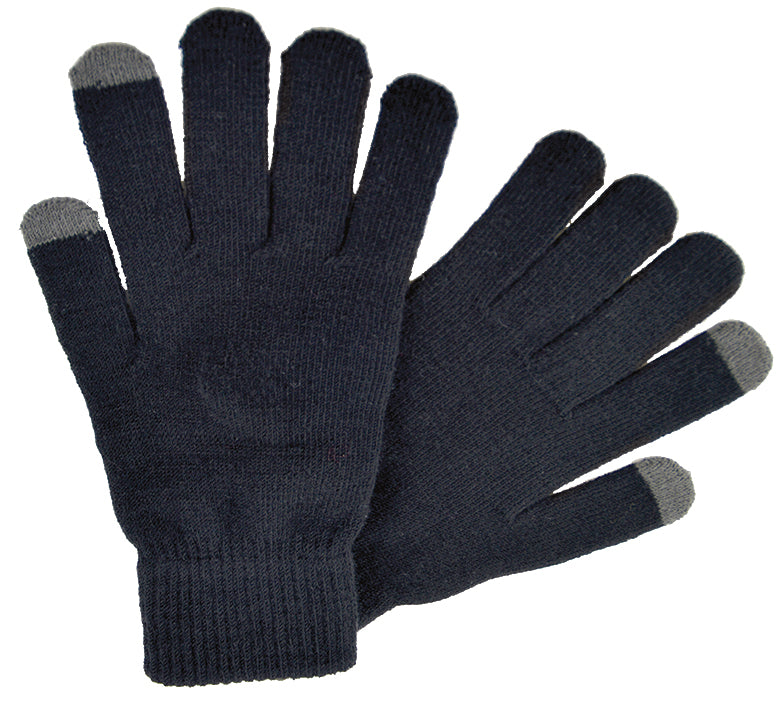 OCTAVE Mens Black Touch Screen Gloves - Ideal For iPhones & iPads