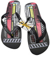 OCTAVE Mens Techno Design Flip Flops - Black