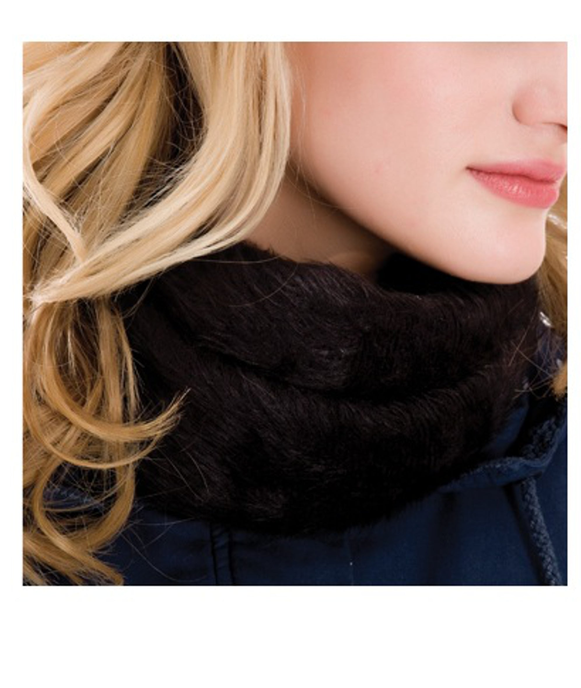 Black neck warmer