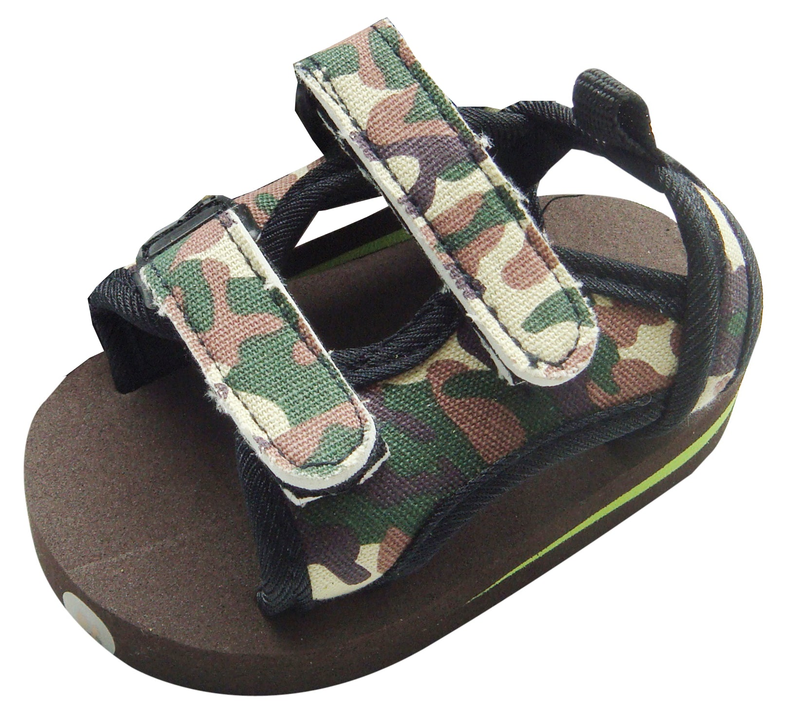 MABINI Baby Boys Army Style Canvas Strap Summer Twin Hook & Loop Fastener Eva Sandals