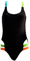 OCTAVE Ladies Swimwear Swimsuit Beachwear Collection - One Piece Monokini Design - Black
