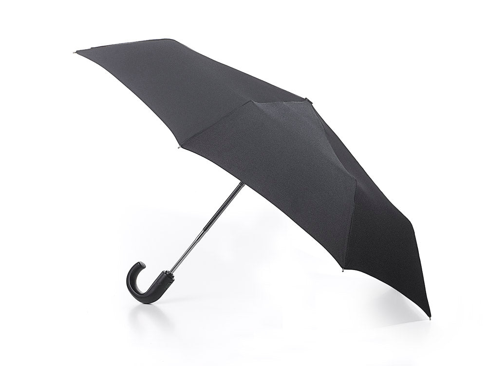 Fulton Automatic Open & Close Mens Crook Handle Deluxe Folding Umbrella