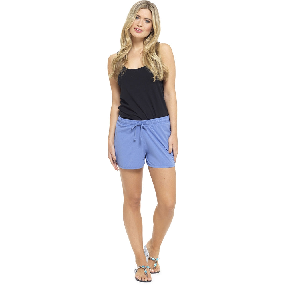Octave Ladies Jersey Cotton Summer Beach Shorts - Blue